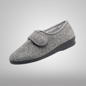 Pantufla Cabrales Gris Velcro