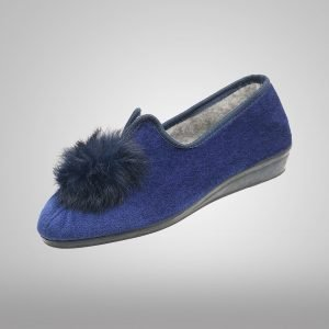 Pantufla Cabrales Azul Mota