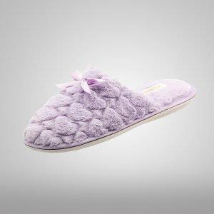 Pantufla Confort Lila Corazones