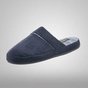 Pantufla Confort Marino Textil Sin Talón